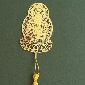 Other - Bookmark - Brass metal cutting Buddha